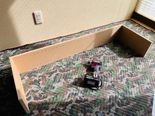 パルプボードボックス組み立て